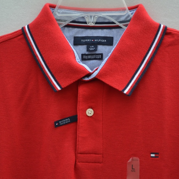 9296b629 Tommy Hilfiger Shirts | Wicking Performance Pique Polo Red | Poshmark